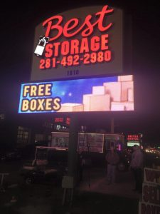 lighted outdoor signs