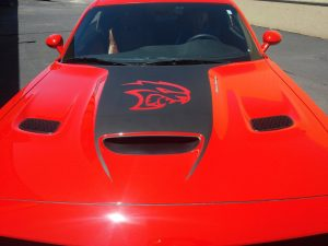 car vinyl hood decal